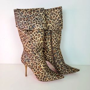 ALBA Booth Leopard boots size 8.5
